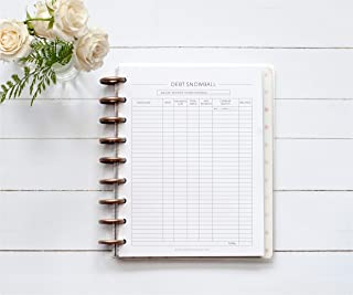 BetterNote Home Finance Kit for the Happy Planner, 9-Discs, 1 Year Supply, Budget, Expense Tracker, Debt Snowball, 7