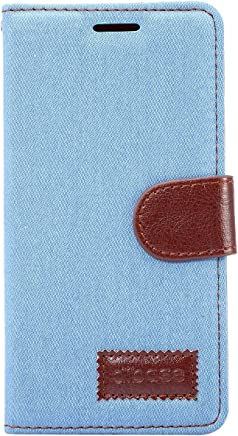 Apexel 三星 J3 手机套 - 黑色SXJ3-NBZ-LBL Samsung J3 浅蓝色