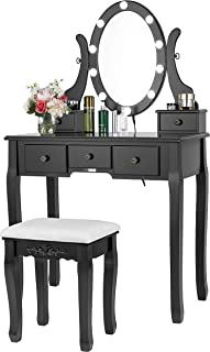Makeup Table With Lighted Mirror