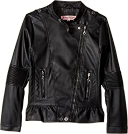 Urban Republic Kids - Faux Leather Moto with Peplum (Little Kids/Big Kids)