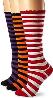 Girls' Little Christmas and Halloween Stripe Knee High Socks 3 Pair Pack