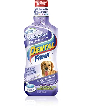Dental Fresh Water Additive for Pets - Clinically Proven, Simply Add to Pet's Water Bowl to Whiten Teeth
