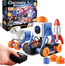 Discovery #MINDBLOWN Customizable Magnetic Building Tiles with Remote Control, 34-Piece Play Set, Build 3 Intergalactic Mo...