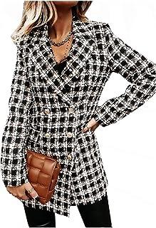 معطف رياضي نسائي خريفي شتوي بأكمام طويلة ممتاز مزدوج الصدر