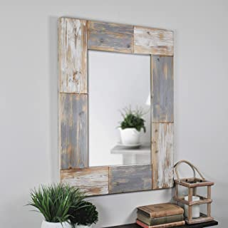 FirsTime & Co. 70001 Mason Planks Wall Mirror, 31.5