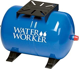 WaterWorker HT-14HB Water Worker Horizontal Pre-Charged Well Tank, 14 Gal, 1 In Mnpt, 100 Psi, Steel, Blue