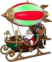 Hallmark Christmas Ornament 2018 Year Dated Santa Sleigh Flight of Fancy With Light,