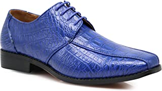 b61d7c337701 Gator Men s Alligator Crocodile Print Oxfords Loafers Fashion Slip On Dress  Shoes