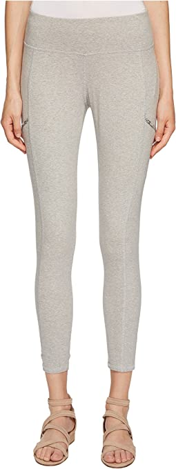 Heathered Organic Cotton Jersey Leggings