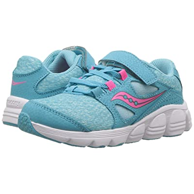Saucony Kids Kotaro 4 A/C (Little Kid/Big Kid) (Turquoise/Pink) Girls Shoes