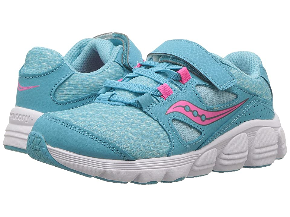 Saucony Kids Kotaro 4 A/C (Little Kid/Big Kid) (Turquoise/Pink) Girls Shoes