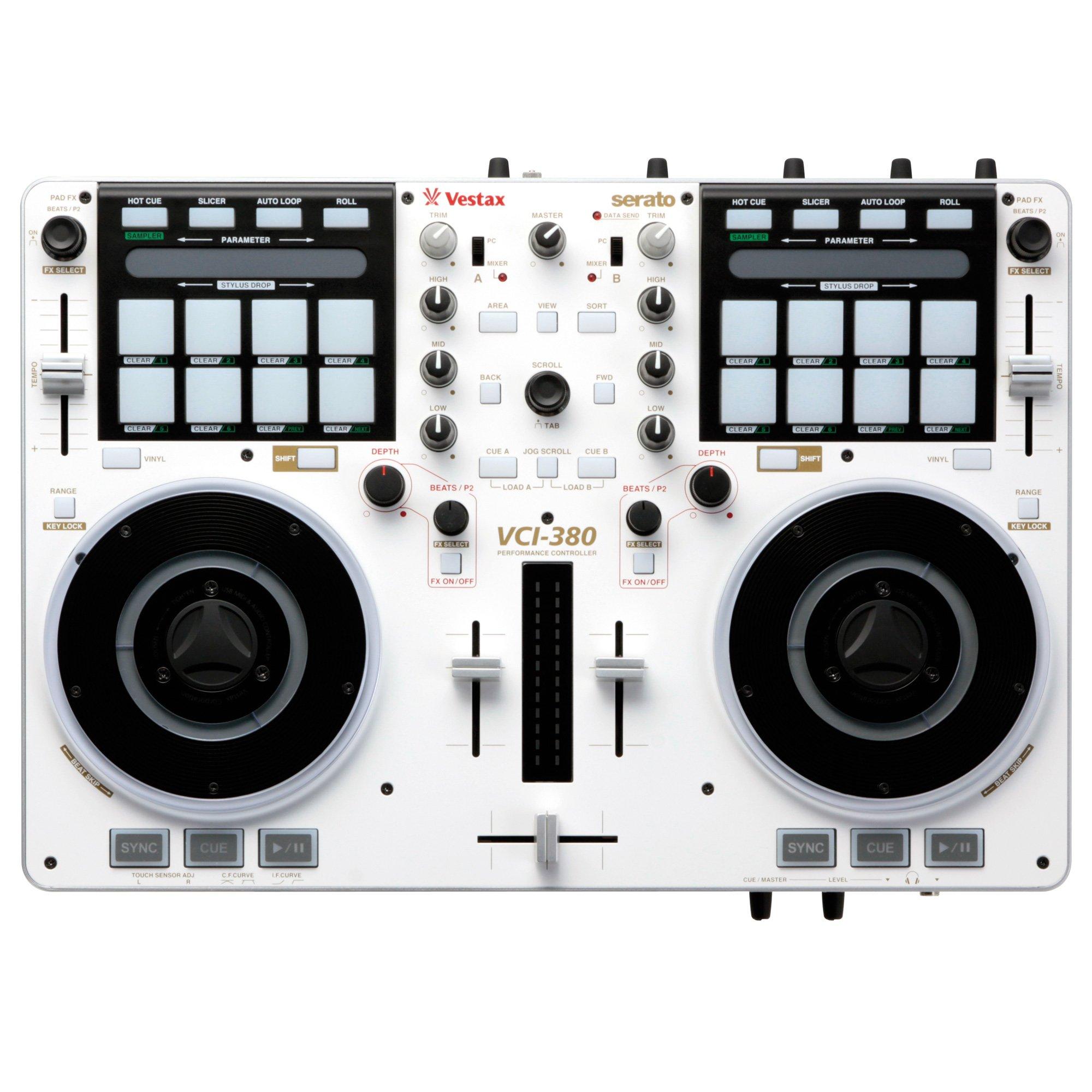 Vestax VCI380 White - Mesa de mezclas, color blanco: Amazon.es: Instrumentos musicales