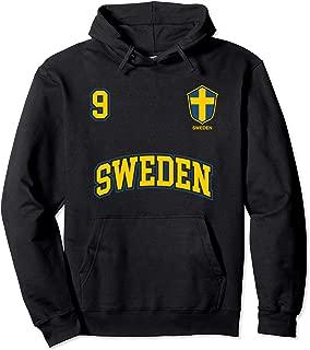 Sweden Team Hoodie No. 9 Sports Swedish Flag Soccer Shirt
