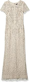 Adrianna Papell Women's Long Beaded Dress
