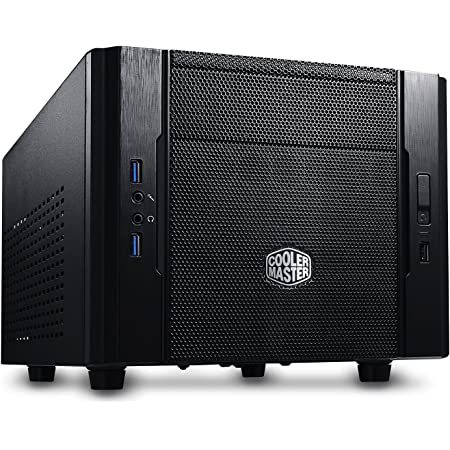 Cooler Master RC-130-KKN1 Elite 130 - Mini-ITX Computer Case with Mesh Front Panel and Water Cooling Support