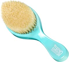 Torino Pro Wave Brush #460 by Brush King - Soft Curve Wave Brush - Made with 100% Boar Bristles -True Texture Soft - Great for Polishing/Laying Down Frizz & Finisher - Curved 360 Waves Brush