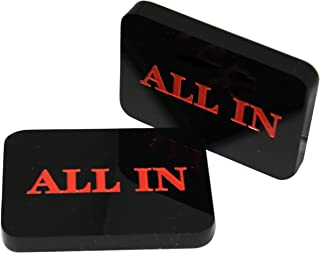 MRC Lot of 4pcs Acrylic All In Button Casino Quality Plaque Dealer Button Large Black