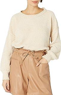 Women's Balloon Sleeve Crew Neck Sweater - Amazon Exclusive