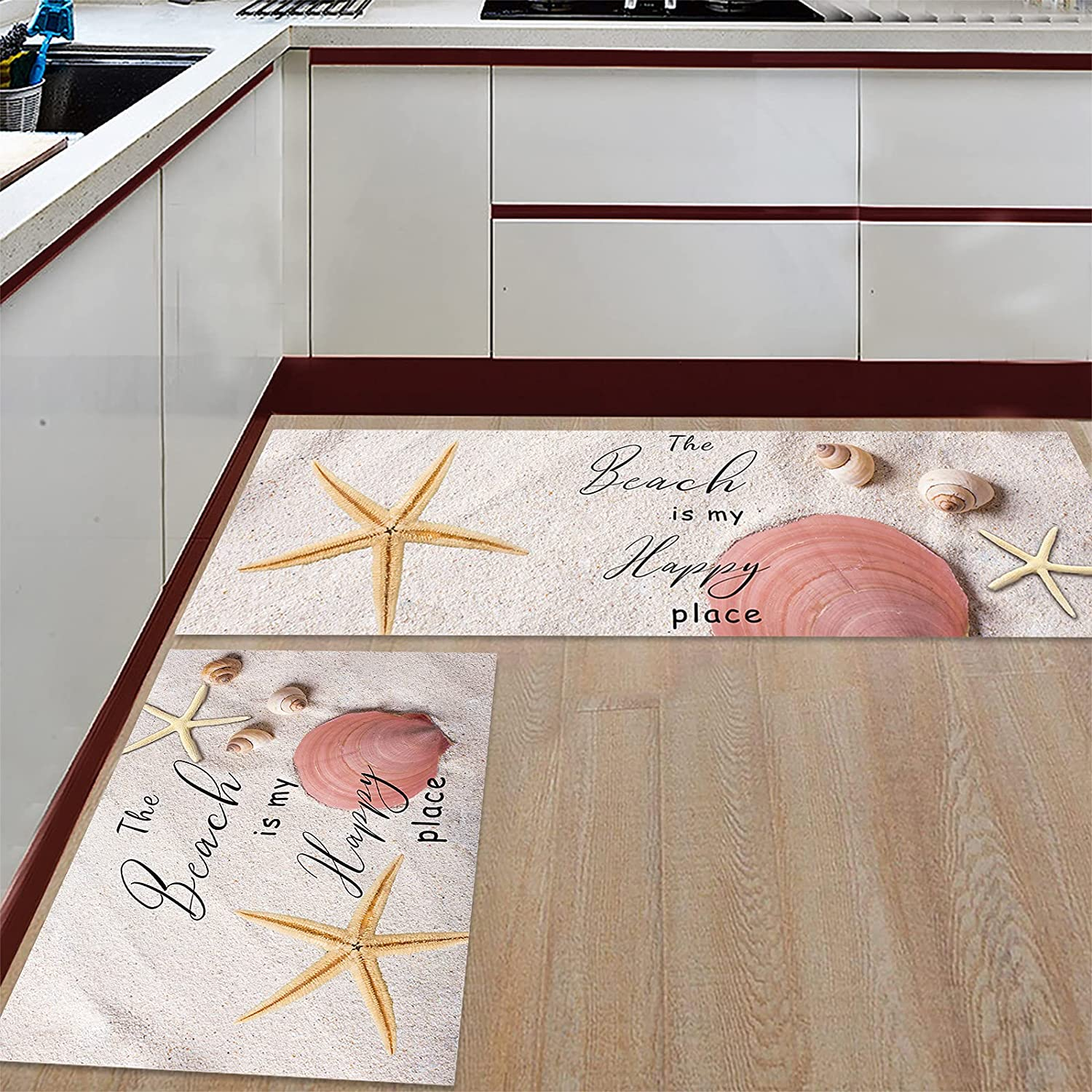 Anmevor Kitchen Rug Sets 2 Piece Mats Non-Slip 70% OFF Outlet Rugs Sale special price Door Be The