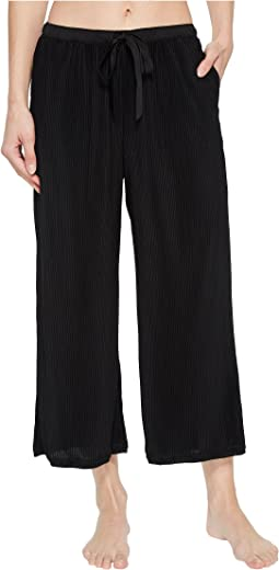 Donna Karan Pleated Jersey Capri Pants