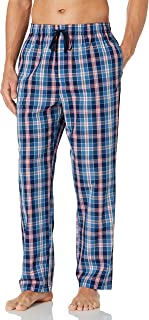 Nautica Men's Soft Woven 100% Cotton Elastic Waistband Sleep Pajama Pant, J Navy, Medium