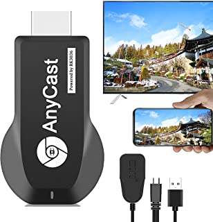 【2021年最新優選】 Anycast HDMIミラキャスト クロムキャスト ドングルレシーバー 携帯画面をテレビに映す iphoneテレビ接続 Androidテレビ接続iphoneをテレビに映す hdmi 変換 ケーブル HDMIアダプター ...