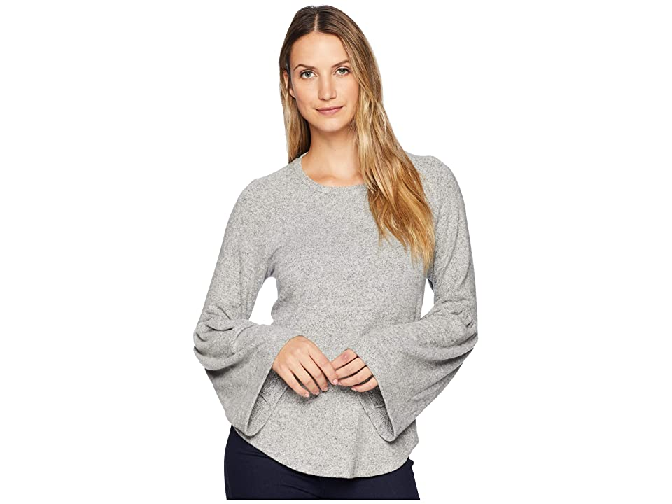 B Collection by Bobeau Ophelie Cozy Wide Sleeve Tee (Heather Grey) Women
