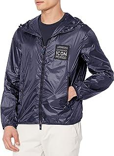 Armani Exchange Men's A|x Logo Patch Zip Up Blouson Jacket