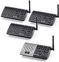 eMACROS Portable Wireless Intercom System 1000 feet Hands Free Full Duplex Intercom for..