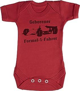 TRS Clothing TRS - Geborener Formel-1-Fahrer Baby Bodys/Strampler 0-3 Monate Rot