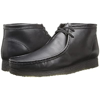 Clarks Wallabee Boot (Black Leather) Men