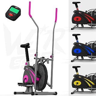 We R Sports 2-in-1 Ellittico Attraversare Allenatore & Esercizio Bici al Coperto Casa Fitness Cardio Allenamento Macchina