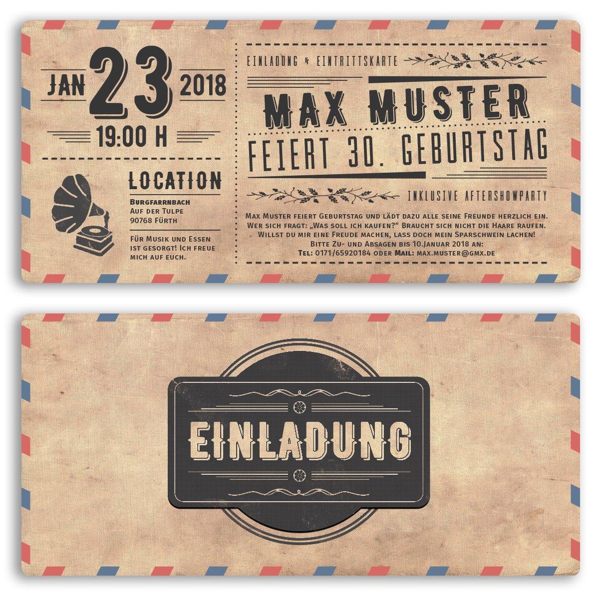 einladungskarten ticket