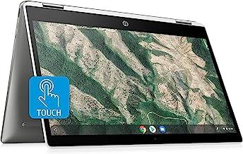 $319 » HP Chromebook X360 14-Inch HD Touchscreen Laptop, Intel Celeron N4000, 4 GB RAM, 32 GB eMMC, Chrome (14b-ca0010nr, Ceramic...