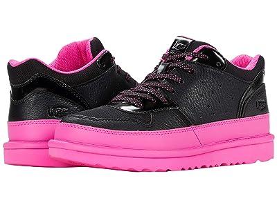 UGG Kids Highland Sneaker (Little Kid/Big Kid) (Black/Pink) Girl