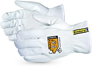 Superior Goatskin Leather Work Gloves – Kevlar Lined Cut Resistant, Arc Flash Safety..