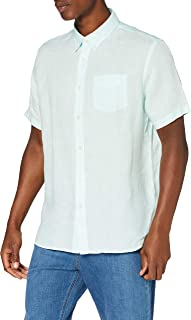 Marchio Amazon - find. Camicia di Lino a Manica Corta Uomo