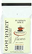 Queen City Pumpkin Spice Flavored Whole Bean Coffee, 8-Ounce Bags (Pack of 3)