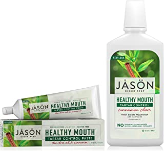 Jason Healthy Mouth Toothpaste, Tea Tree Oil & Cinnamon with Bacteria-Fighting Mouthwash