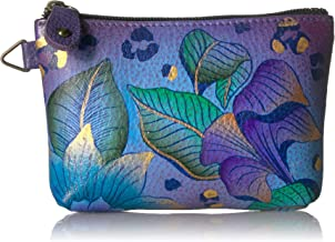 Anna by Anuschka Hand Painted Leather Women's Coin Pouch