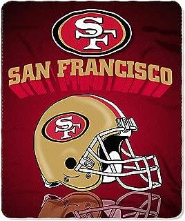 San Francisco 49ERS Fleece Throw Blanket, 50