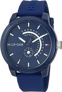 Tommy Hilfiger Men's Quartz Watch with Silicone Strap,...