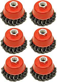 """Twist Knot Wire Wheel Coupe Brosse 150 mm M14 pour 4 1//2/"""" 115 mm Meuleuse d/'angle"""