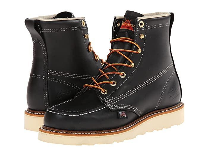 Thorogood  6 Black Moc Toe (Black Oil) Mens Work Boots