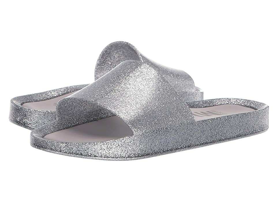 Melissa Shoes Beach Slide Shine (Silver/Glass Glitter) Women