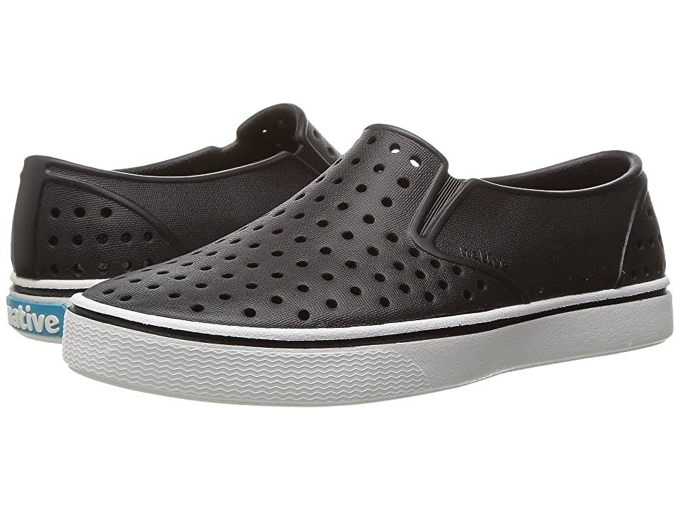 Native Kids Shoes Miles Slip-On (Little Kid/Big Kid) (Jiffy Black/Shell White) Kids Shoes