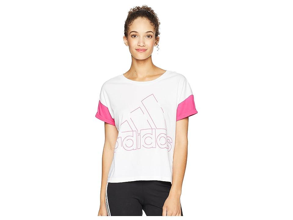 adidas Sport ID Badge of Sport T-Shirt (White) Women