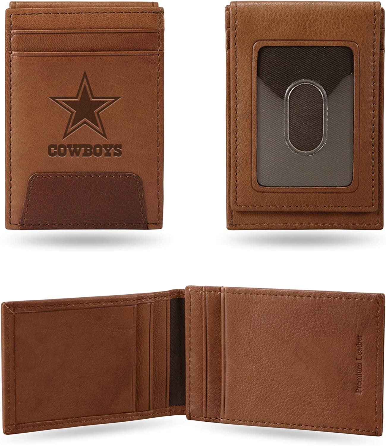 Rico Industries Cowboys Premium Japan Maker New Leather Front Mul Pocket Wallet Shipping included