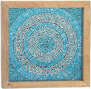 Deco 79 42222 Mosaic Wooden Wall Decor, 24