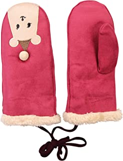 Children's Cute Animal Face Soft Suede-Like Mittens Gloves